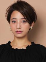 ☆30代・40代☆大人耳かけショート(髪型ショートヘア)