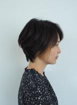 ハンサムショート×デザインカラー(髪型ショートヘア)