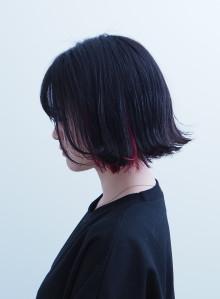 甘辛インナーカラー×切りっぱなしボブ(ビューティーナビ)