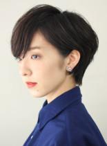 ☆30代・40代☆大人黒髪ショートボブ(髪型ショートヘア)