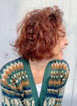 ウェービーボブ × AWカラー(髪型ボブ)