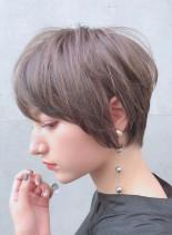 ワンサイドマッシュショート(髪型ショートヘア)