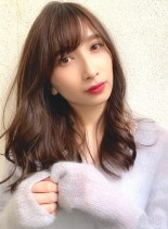 流行色ブランジュカラーとデジパ☆(髪型ロング)