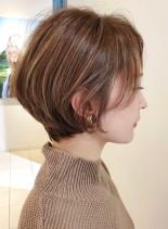 扱いやすいひし形ショートボブ☆(髪型ショートヘア)