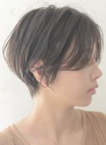 すっきりサイドシルエットショート(髪型ショートヘア)