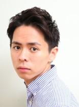 アダルトアップバングショート(髪型メンズ)
