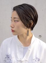 横顔美人ミニボブ(髪型ショートヘア)