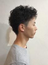 くせ毛風カット(髪型メンズ)