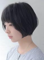 ノーブルショートボブ(髪型ショートヘア)