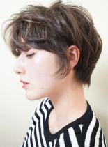 40代50代 お手入れ簡単ショート(髪型ショートヘア)