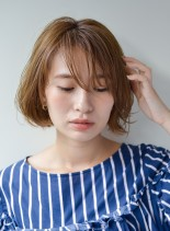 美髪&ひし形シルエット小顔(髪型ボブ)