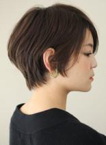 小顔に見える前髪長めショートボブ☆(髪型ショートヘア)