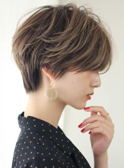☆30代40代☆手入れ簡単小顔ショート(髪型ショートヘア)