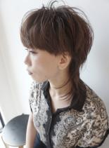 大人のマッシュウルフスタイル(髪型ショートヘア)