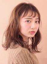 空気感×透明感 カジュアルセミディ(髪型セミロング)