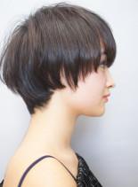 30代40代50代 前髪長めショートヘア(髪型ショートヘア)