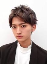 かきあげメンズのツーブロックショート(髪型メンズ)