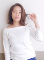 艶髪/大人カジュアル切りっぱなしボブ(髪型ボブ)