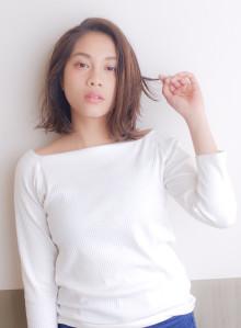 艶髪/大人カジュアル切りっぱなしボブ(ビューティーナビ)