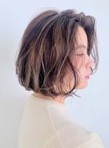 抜け感Sカールボブ(髪型ボブ)