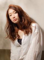 大人可愛いフェミニンスタイル(髪型ロング)