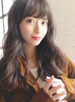 小顔似合わせカット☆ナチュラルブラウン(髪型ロング)