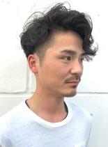 大人ウェーブショート(髪型メンズ)