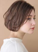 ふんわり*ナチュラル大人ショートボブ(髪型ショートヘア)