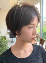 30代、40代の【首スッキリショート】(髪型ショートヘア)