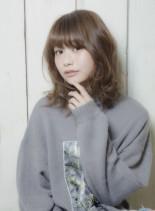 透明感カラー×愛されミディアム(髪型ミディアム)