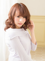 簡単スタイリング♪パーマミディスタイル(髪型ミディアム)