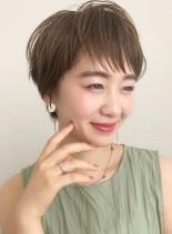 30代、20代の【パーマショート】(髪型ショートヘア)