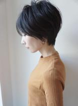 大人のシンプルに綺麗に見えるショートボブ(髪型ショートヘア)