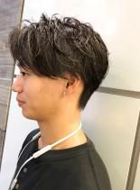 大人マッシュ ラフセンターパート(髪型メンズ)