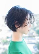 大人丸みショートボブ(髪型ショートヘア)