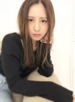 新木優子さん風ナチュラルヘア(髪型セミロング)