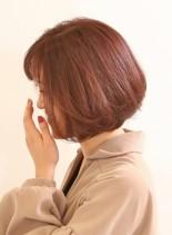 ピンクラベンダーカラー(髪型ボブ)