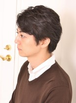 ナチュラルビジネスショート(髪型メンズ)
