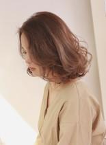 透明感グレージュボブ(髪型ボブ)