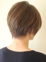 34.5才〜のひし形ナチュラルボブ(髪型ショートヘア)