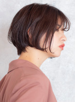 ふんわり長めショートボブ(髪型ショートヘア)
