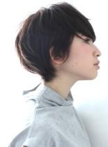 横顔美人☆大人のショートレイヤー(髪型ショートヘア)