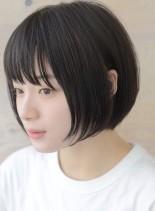 コクーンシルエットショートボブ(髪型ショートヘア)