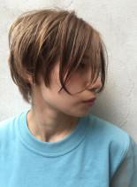30代40代50代 前髪長めショートボブ(髪型ショートヘア)
