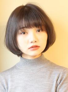 34.5才〜のひし形ナチュラルボブ(ビューティーナビ)