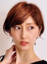 大人のオシャレな耳掛けショートスタイル(髪型ショートヘア)