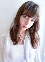 ファストブリーチ+ホワイトグレージュ(髪型セミロング)