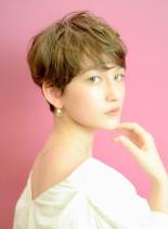 甘さ&カッコ良さMix小顔エッジショート(髪型ベリーショート)