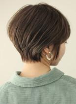 美シルエットのお手入れ簡単ショートボブ☆(髪型ショートヘア)