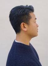 ソフト刈り上げバーバービジネスショート(髪型メンズ)